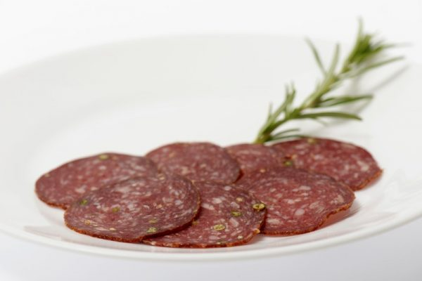 salami pfeffer teller